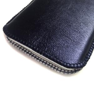 Handytasche nachtblau Lammnappa metallic iPhone X